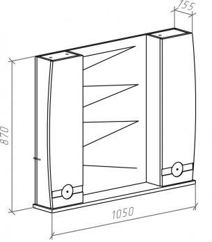 Зеркало-шкаф Абрис 105 белый