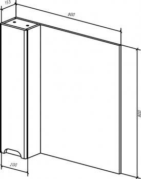 Зеркало-шкаф Андрэа 80 L белый