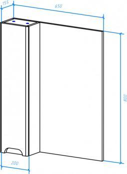 Зеркало-шкаф Андрэа 65 L белый