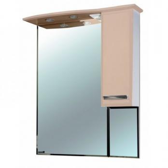 Зеркало-шкаф Балтика 90 R бежевый
