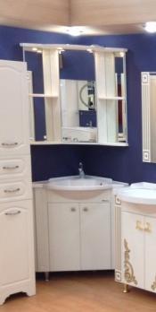 Зеркало-шкаф Венеция угловая 60 R белый