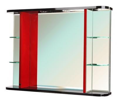 Зеркало Bellezza Рио 90 чёрное/красное