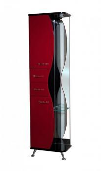 Пенал Bellezza Рио 50 L красный/чёрный