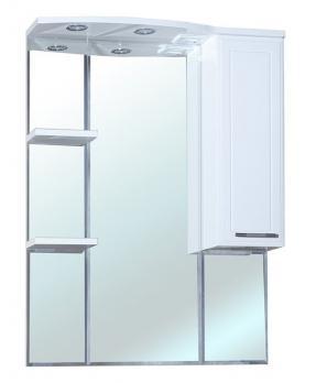 Зеркало-шкаф Bellezza Коралл 85 R белый