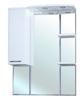 Зеркало шкаф Bellezza Коралл 85 L белый