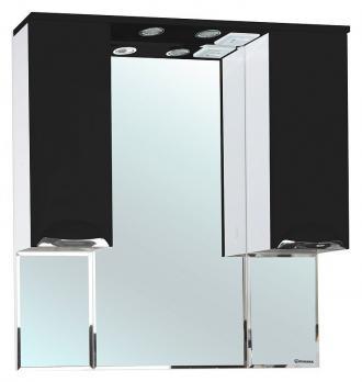 Зеркало-шкаф Bellezza Альфа 90 чёрный