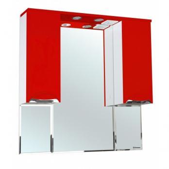 Зеркало-шкаф Bellezza Альфа 90 красный