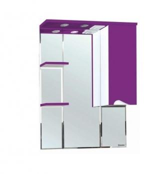 Зеркало-шкаф Bellezza Эйфория 80 R фиолетовый