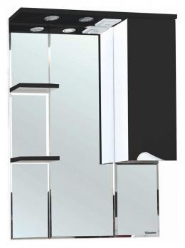 Зеркало-шкаф Эйфория 80 R чёрный