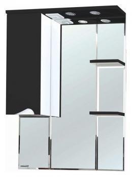 Зеркало-шкаф Bellezza Эйфория 80 L чёрный