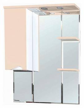 Зеркало-шкаф Эйфория 80 L бежевый