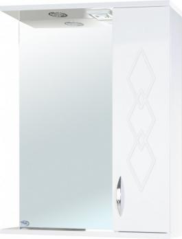 Зеркало-шкаф Элеганс 55 R белое