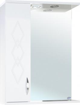 Зеркало-шкаф Элеганс 55 L белое