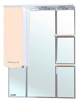 Зеркало-шкаф Bellezza Мари 75 L белое/бежевое