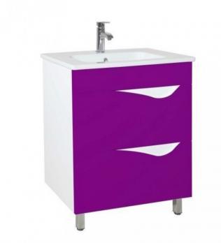 Тумба с раковиной Bellezza Эйфория 60 фиолетовая