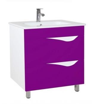 Тумба с раковиной Эйфория 85 фиолетовая